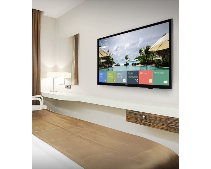 Empower Guests with IP-Based Content Services through Samsung's HE590 Hospitality Displays