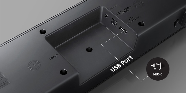 Play your music with a built-in USB port