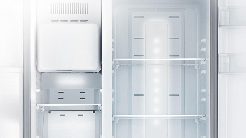 Side By Side Kühlschrank Samsung : Side by side kühlschrank edelstahl look cm l samsung de