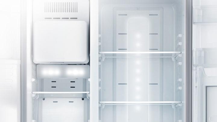 Side By Side Kühlschrank Wasseranschluss : Side by side kühlschrank edelstahl look 179cm 533l samsung de