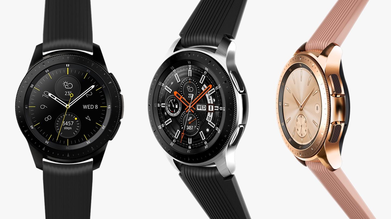 Die Familie der Samsung Galaxy Watch Jahrgang 2018