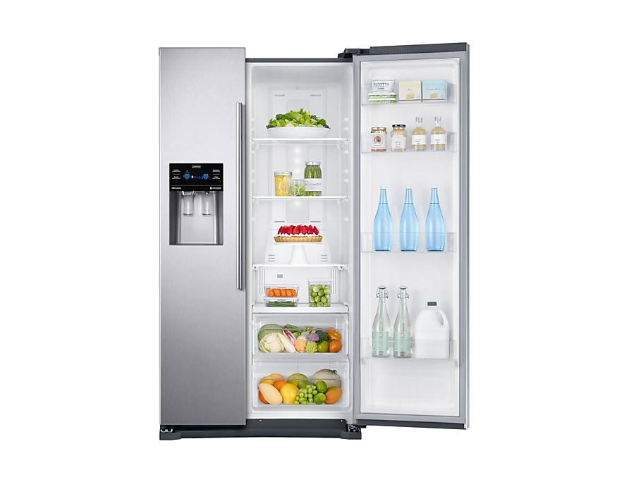 Amerikanischer Kühlschrank Eintürig : Side by side kühlschrank edelstahl look rs53k4400 535l samsung de