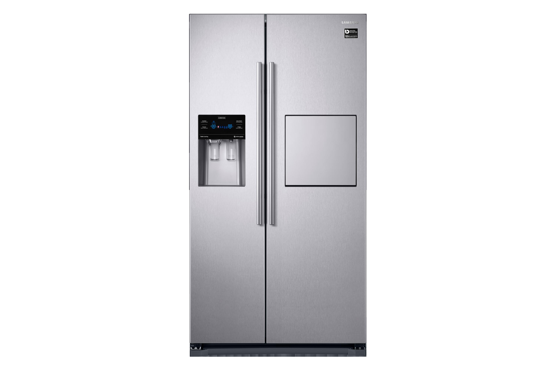 Amerikanischer Kühlschrank Mit Gefrierschrank : Side by side kühlschrank edelstahl look cm l samsung de