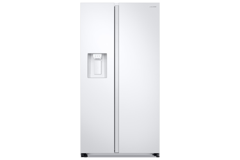 Side By Side Kühlschrank Direkt An Wand : Rs n ww kühlschrank mit side by side tür samsung de