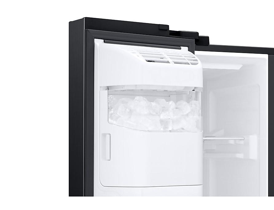 Aufbau Side By Side Kühlschrank : Side by side kühlschrank premium black steel 178cm 617l samsung de