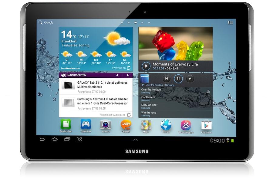 Galaxy Tab 2 (10.1, Wi-Fi) P5110 Vorderseite Schwarz