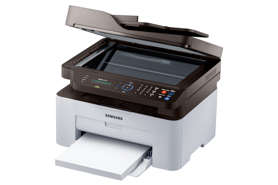 Xpress M2070F  Monolaser-Multifunktionsgerät M2070F R Perspective-Scanner-Tray-Open Grau