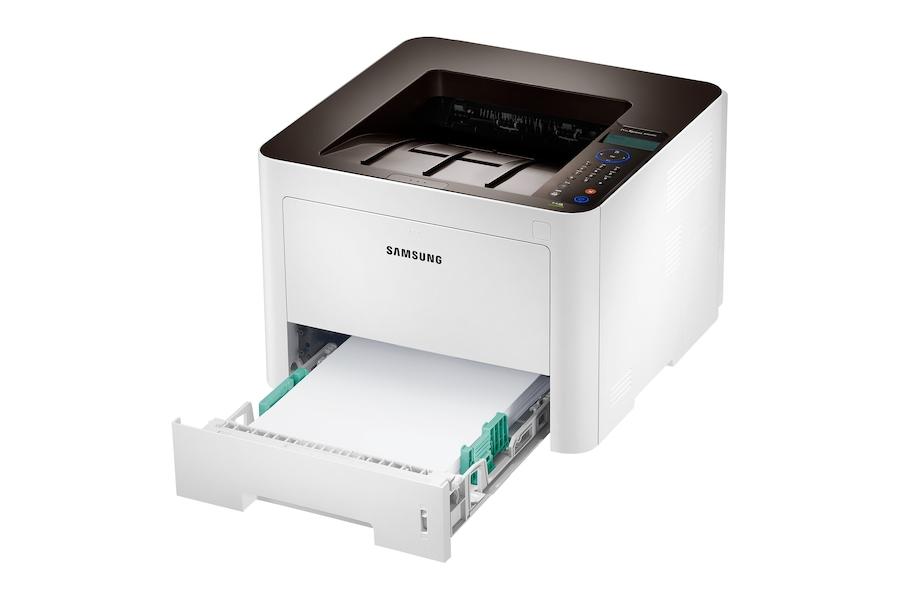 ProXpress M3825ND  Monolaser-Drucker M3825ND Rechter Betrachtungswinkel offen Weiß