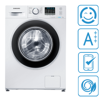 WF70F5ECQ4W/EG, F500,  Waschmaschine, SchaumAktiv, 7kg