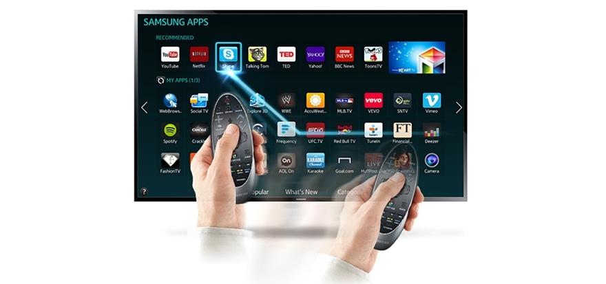 Touch- og bevægelsesstyring gør det let at navigere rundt i TV'et
