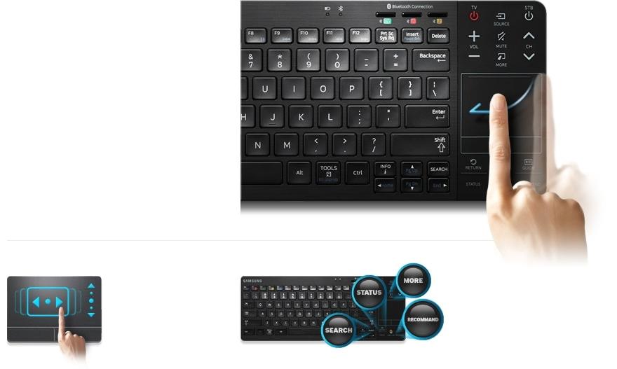 Trådløst tastatur optimeret til Smart TV