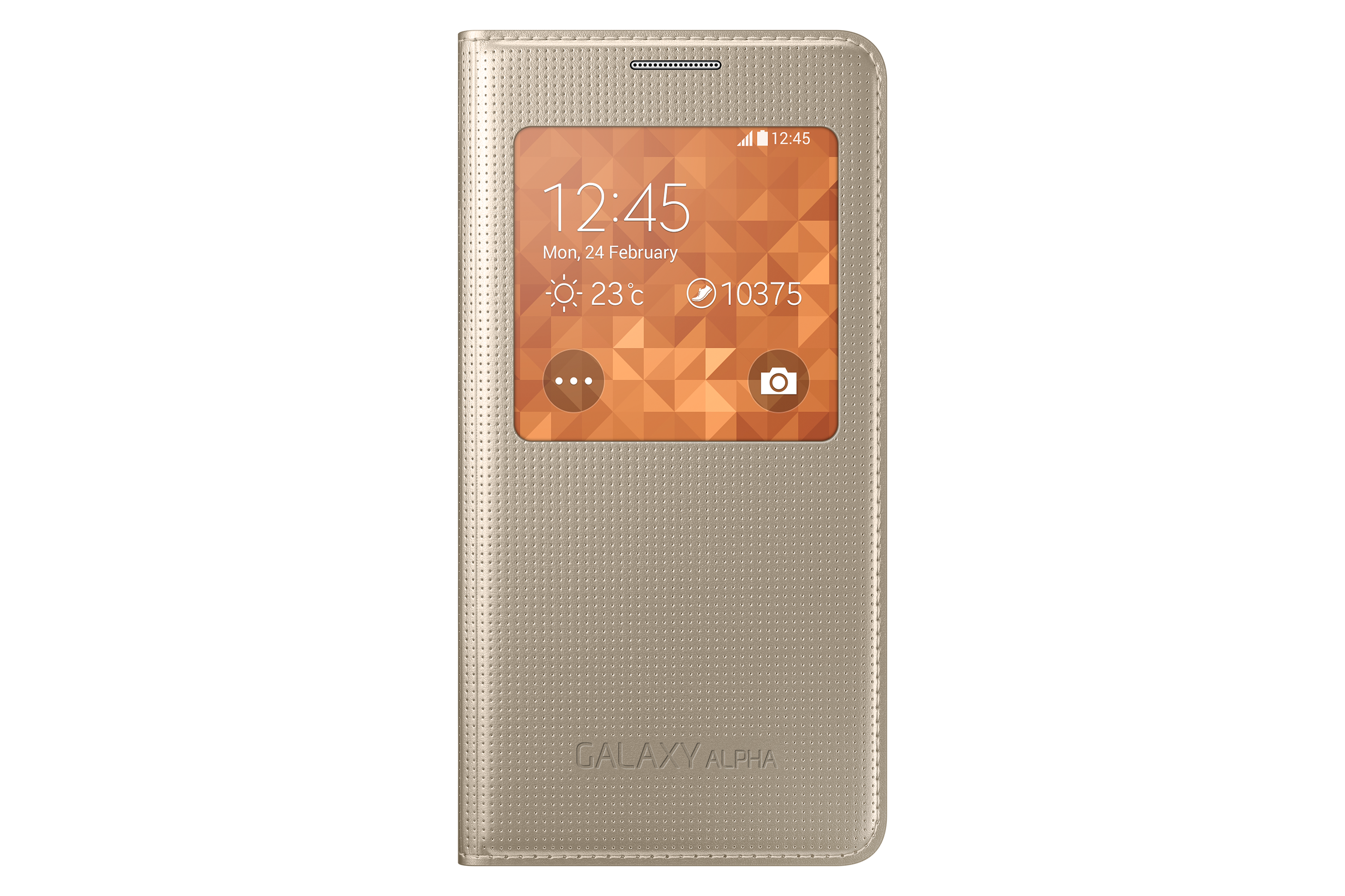S View Cover (guld) - Galaxy Alpha