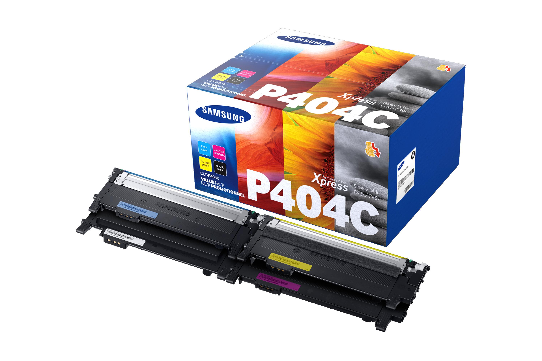 Økonomipakke CMYK lasertoner CLT-P404C