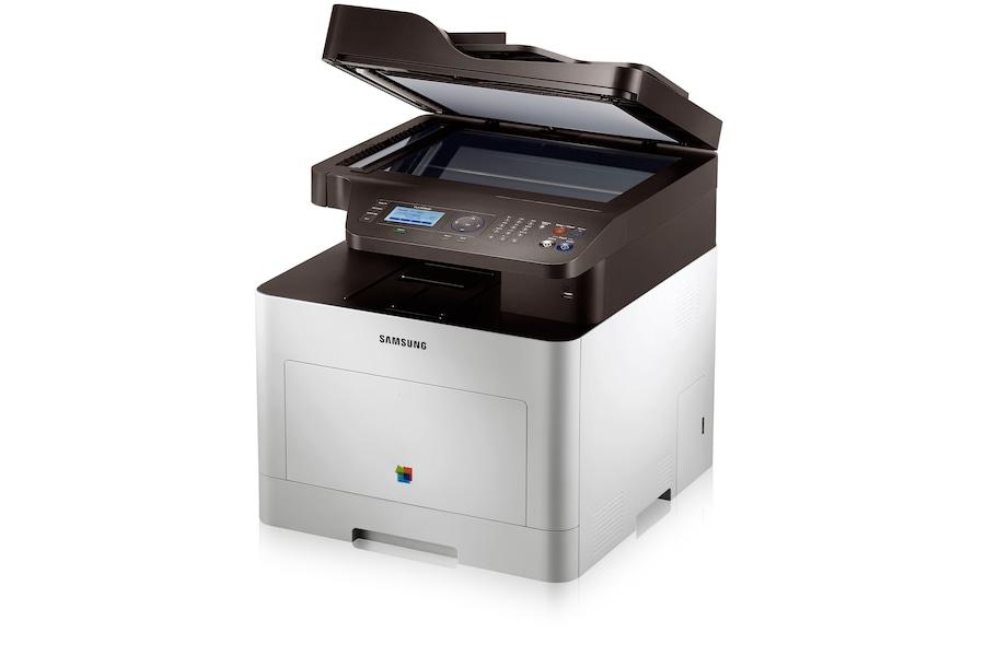Multifunktions farvelaserprinter 3-i-1 CLX-6260ND 6260ND Højre vinkel Hvid