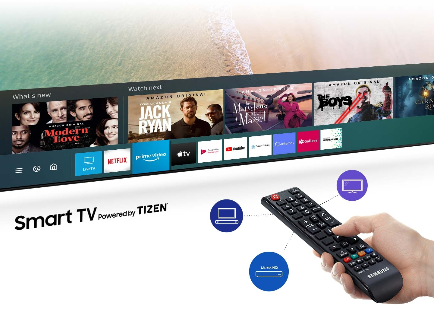 Find a variety of content with one remote (ROW)