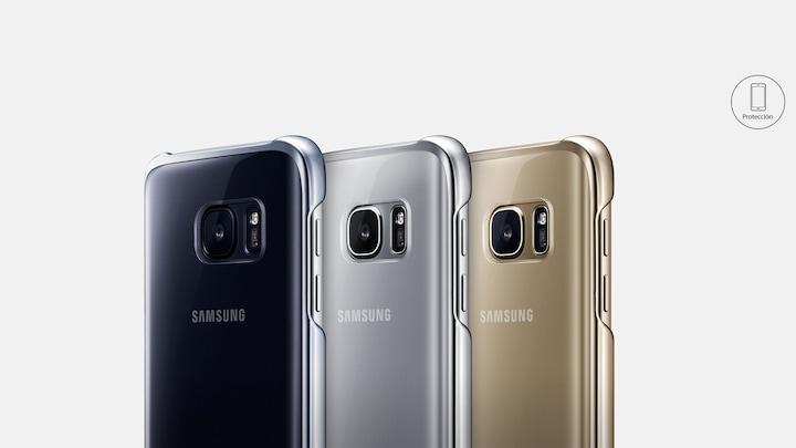 2f5d19a11c7 Funda Clear Cover para Galaxy S7 Negra | Samsung