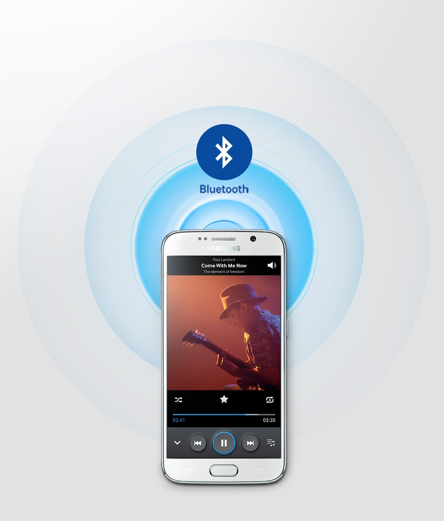 Music streaming service via Bluetooth