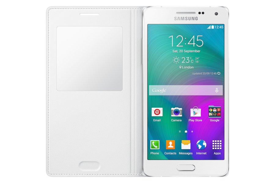 Galaxy A5 S View Cover CA500B Frontal Abierto Gris