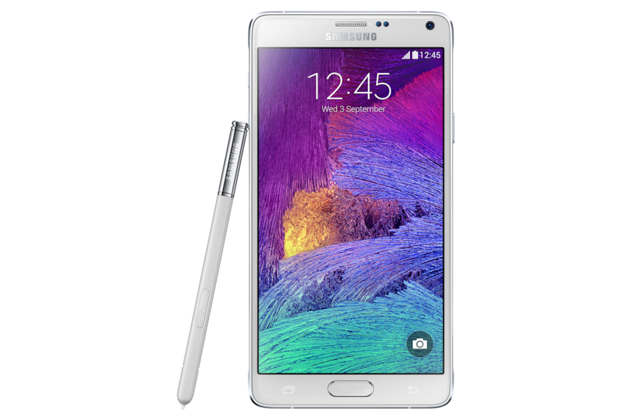 Galaxy Note 4 N910F Front Pen White