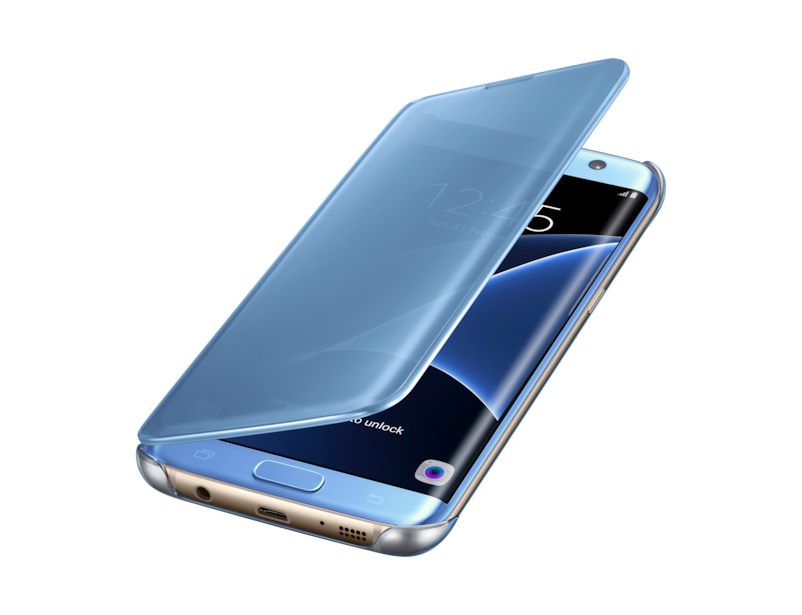 etui clear view pour galaxy s7 edge samsung fr. Black Bedroom Furniture Sets. Home Design Ideas