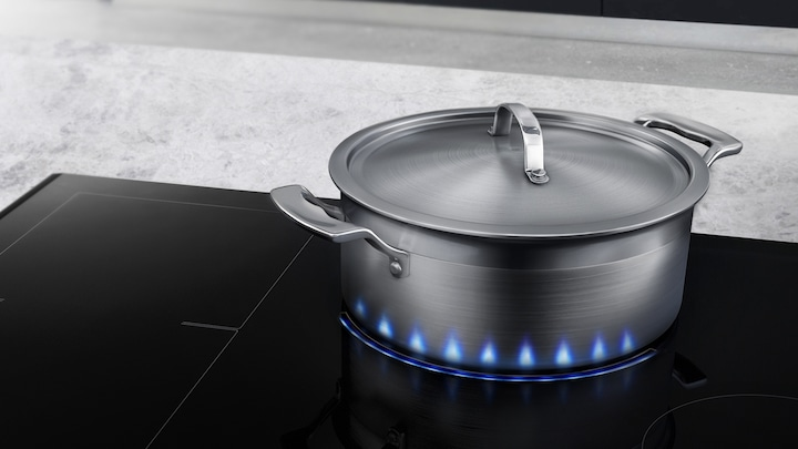 Precise visual induction cooking