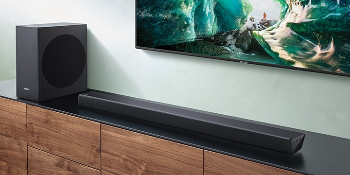 Elevate your TV sound with Built-in center speaker.