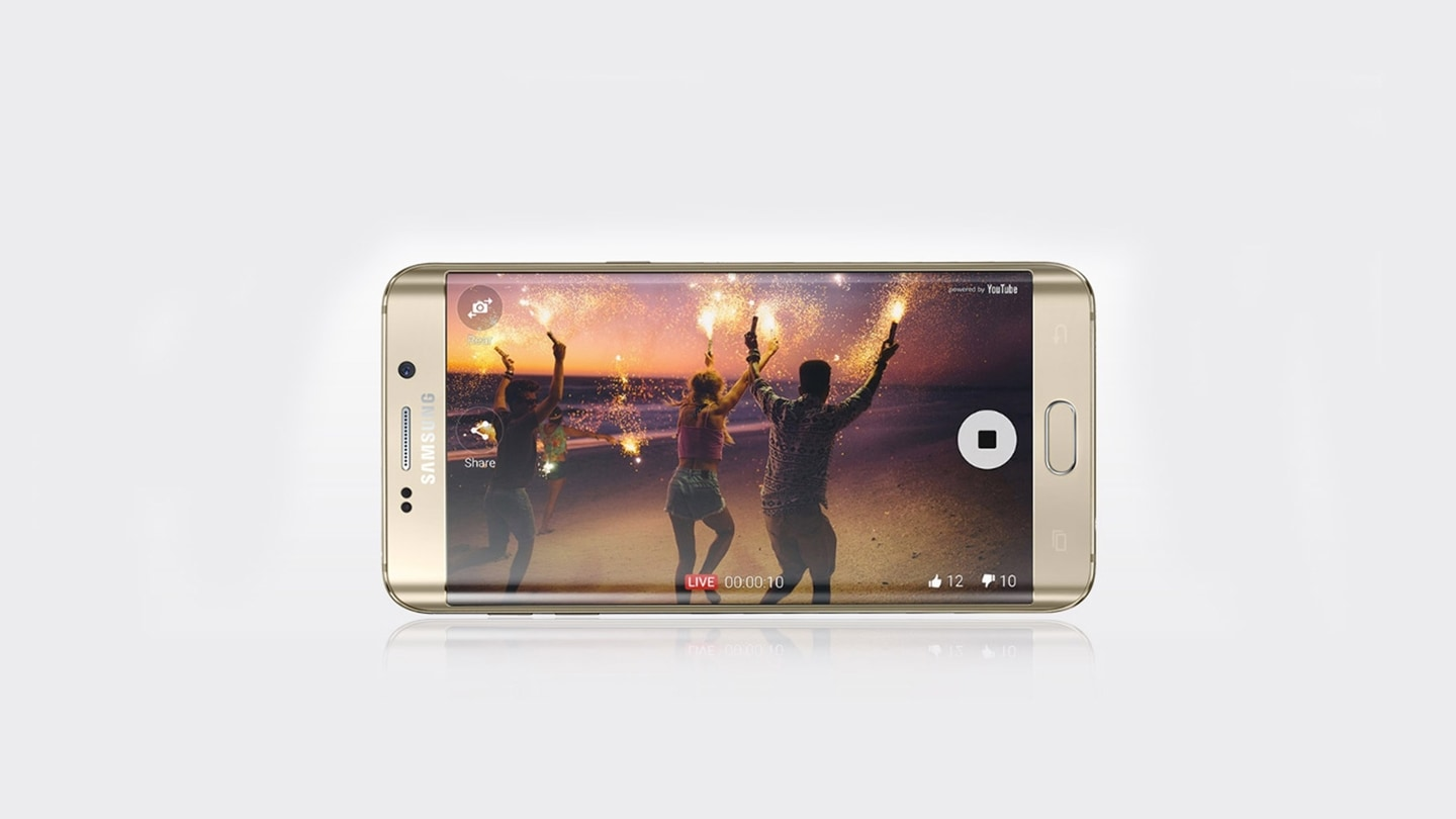 Live streaming GS6 edge +