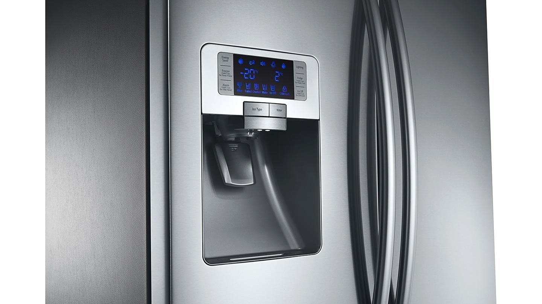 Distributeur d'eau, glaçons et glace pilée