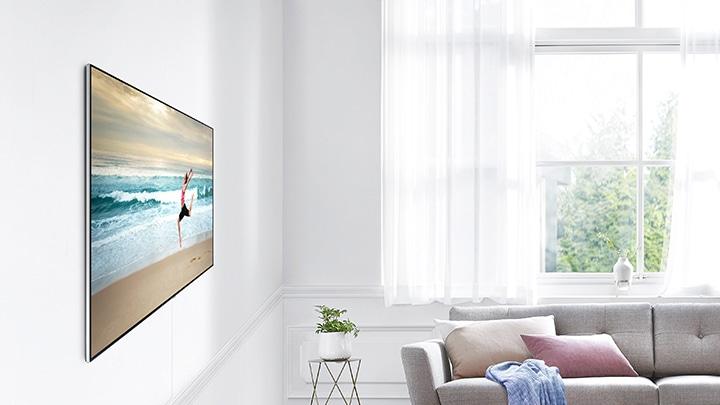 accroche murale ultra fine qled 75 39 39 wmn m20ea samsung fr. Black Bedroom Furniture Sets. Home Design Ideas