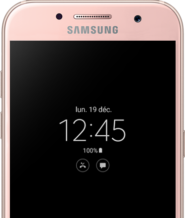 View the date and time in an instant on the Galaxy A5 (2017) with Always on Display.