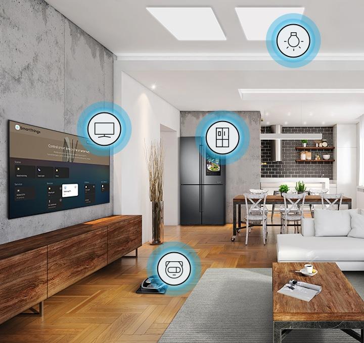 Con los televisores QLED, controle su hogar conectado