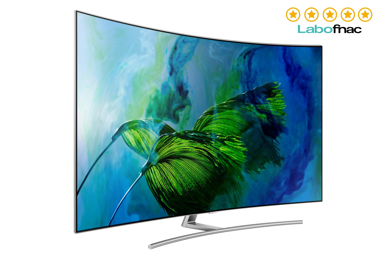 TV QLED 65'' Q8C, Ecran incurvé, Quantum Dots, Smart TV, 3200 PQI