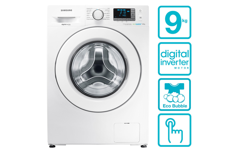 Lave-linge Eco Bubble & Digital Inverter, 9kg - WF90F5E3U4W