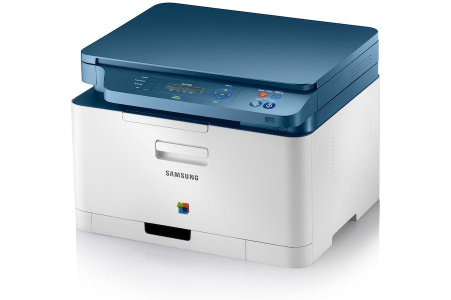 Imprimante multifonction laser couleur, 3-en-1, 18ppm - CLX-3300 3300 Angle droit Blanc