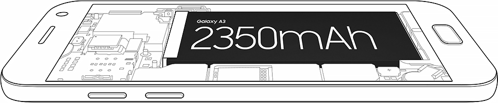 Improved performance with upgraded 2350mAh battery.