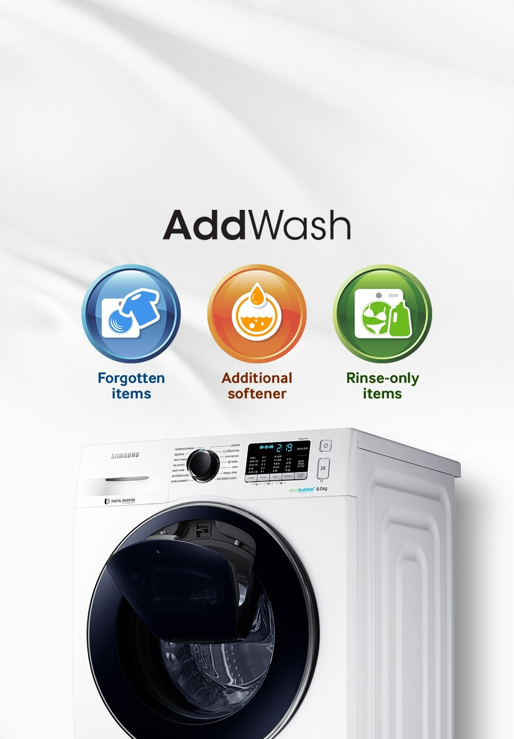 Simply add during wash.