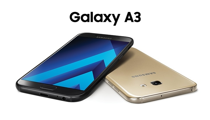 Front And Side View Of The Galaxy A3 To Highlight Its Uniform Design With Zero Protrusion