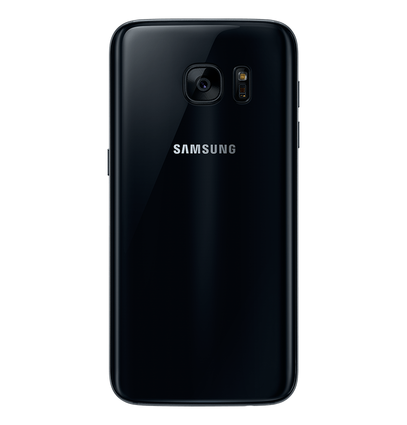 Back view of black onyx Galaxy S7.