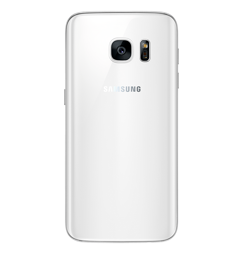 Back view of white pearl Galaxy S7