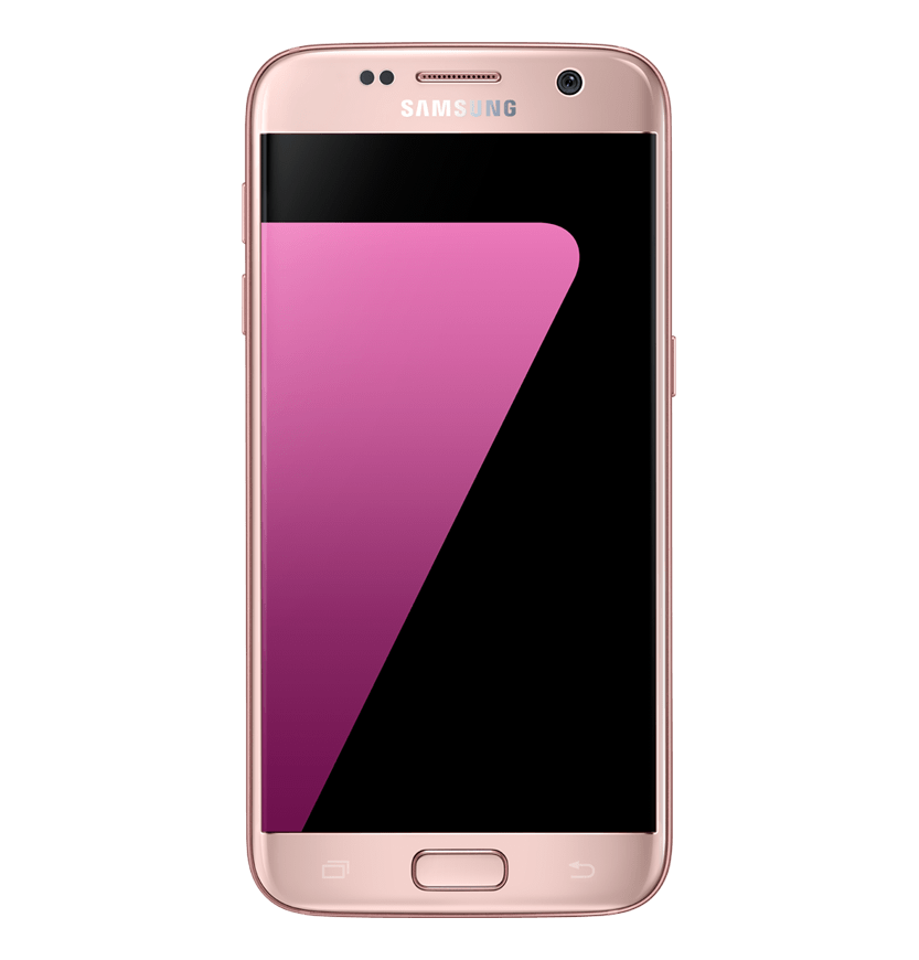 Front view of Pink Gold Galaxy S7.