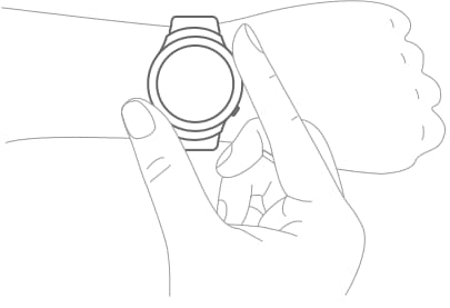 An illustration showing a user turning the Gear S2's bezel.
