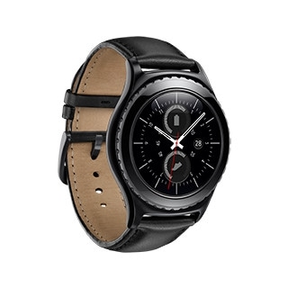 Angled side view of gear s2 classic from left perspective