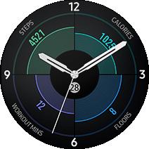 Gear S3 4 in 1 watch face