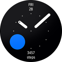 Gear S3 Step circle watch face