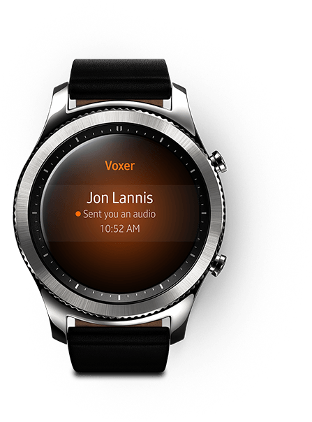 Gear S3 Classic shown with call interface on watch face