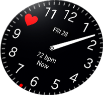 Gear S3 Heart beat hour watch face