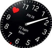 Gear S3 Heart beat hour watch face