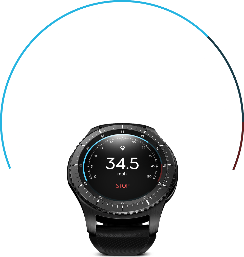 Gear S3 with speedometer on watch face