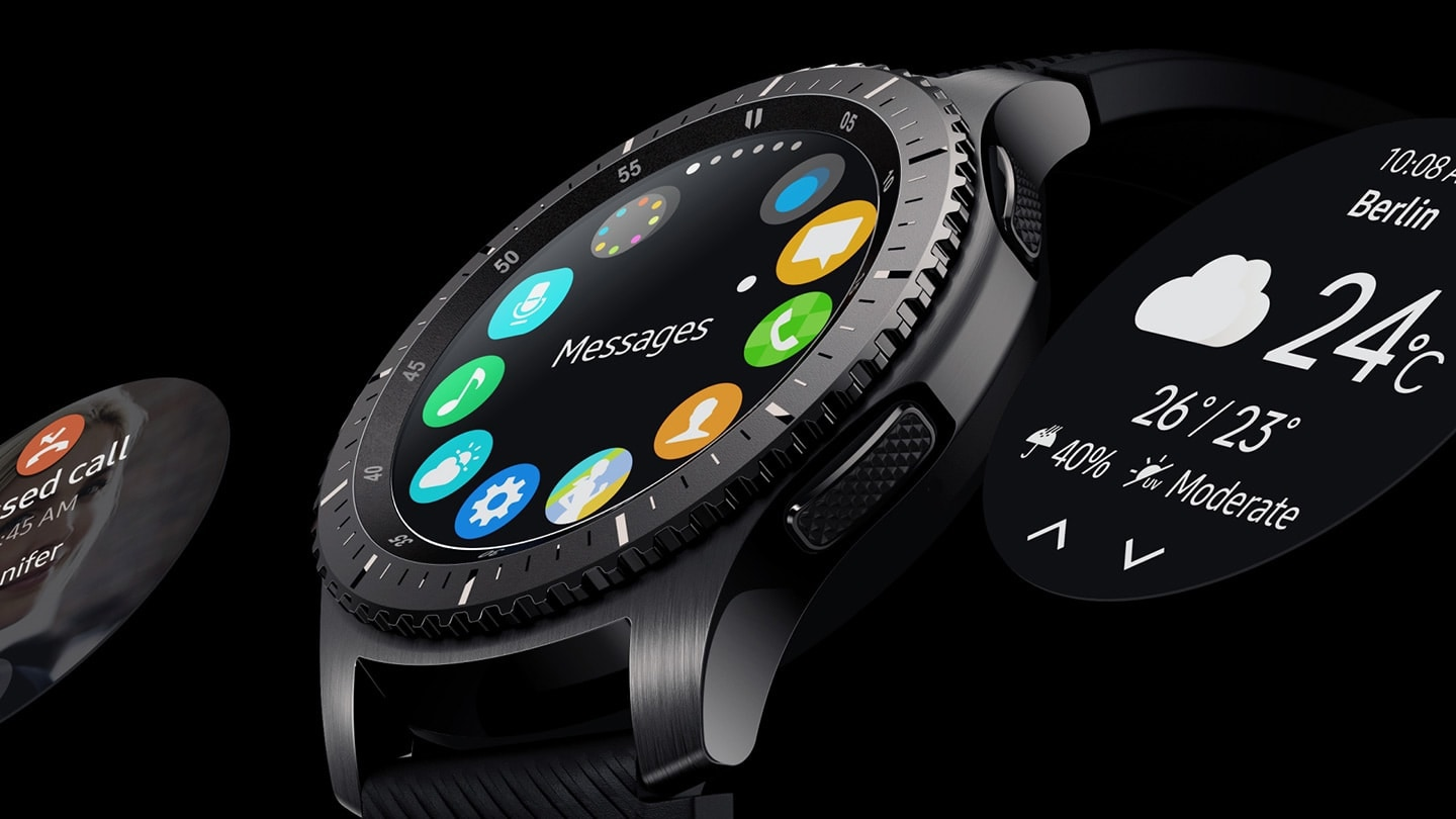 Watch face upclose on Gear S3 Frontier
