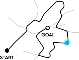 Illustration of cycling route